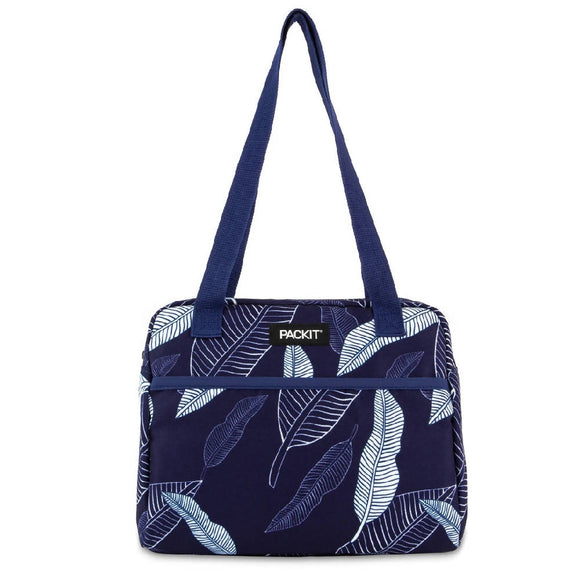 PackIt Freezable Hampton Lunch Bag, Navy Leaves (NEW 2020)