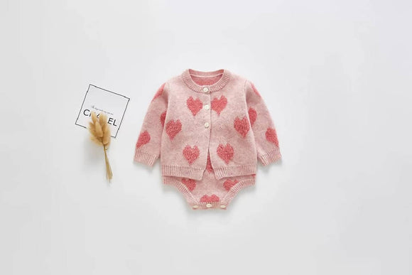 Knitted Heart Cardigan