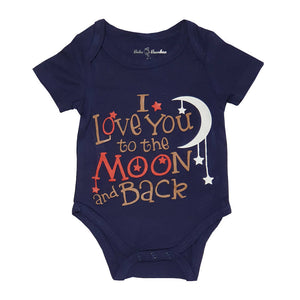 Bebe Bamboo Cute Saying Onesie - I Love You to the Moon and Back - WERONE