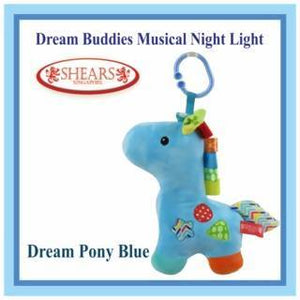 Shears Dream Buddies Musical Night Light Pony Blue - WERONE