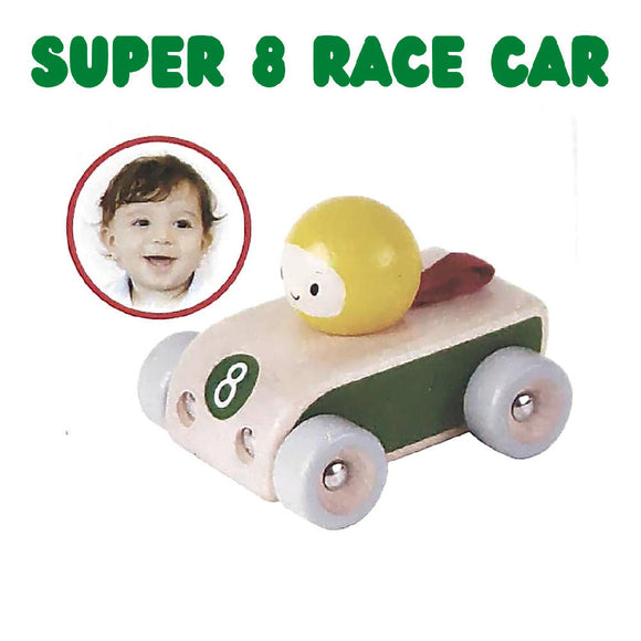Shears Baby Toy Wooden Toy Space Car Super 8 Race Car SWTRC
