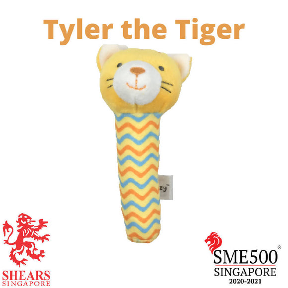 Shears Animal Squeaker Toy Tyler the Tiger SQTG