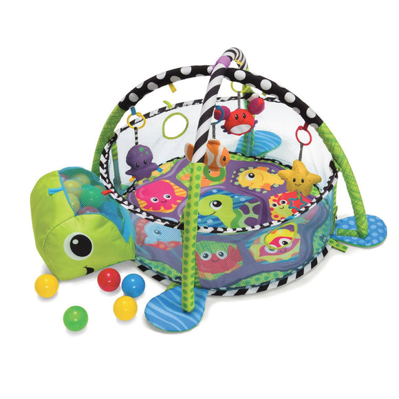 Shears Baby Activity Play Gym Turtle and Ball Pit - WERONE