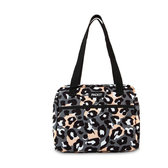 PackIt Freezable Hampton Lunch Bag, Wild Leopard Gray (NEW 2020)