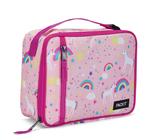PackIt Freezable Classic Lunch Box Bag, Unicorn Pink