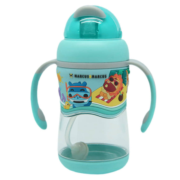 Marcus & Marcus 2-stage Tritan Straw Bottle - Blue - WERONE