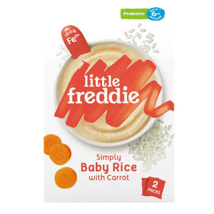 Little Freddie Simply Baby Rice with Carrot  (Probiotics) 160g [BBF 8 OCT 2020] STARBUY!!
