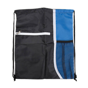 Adventure World Drawstring Bag With Pocket And Side Netting (Blue) - WERONE