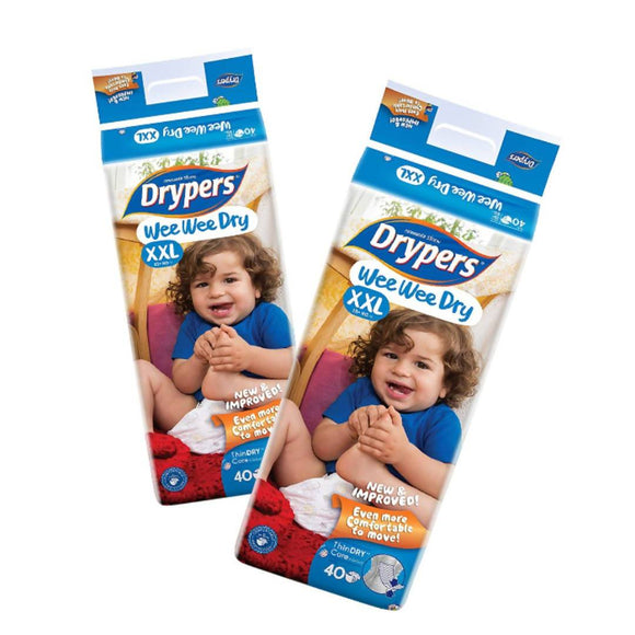 Drypers Wee Wee Dry XXL 40s x 2 packs (15 kg & above) 80pcs - WERONE