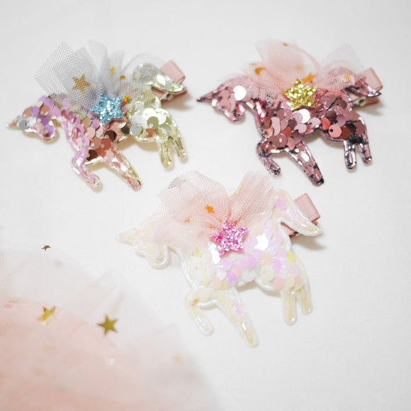 Sequin Unicorn Hair clips - WERONE