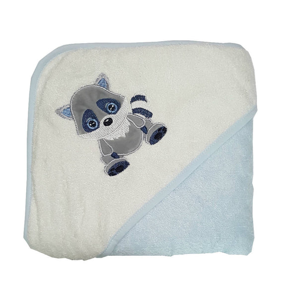Bebe Bamboo Hooded Towel - Raccoon - WERONE