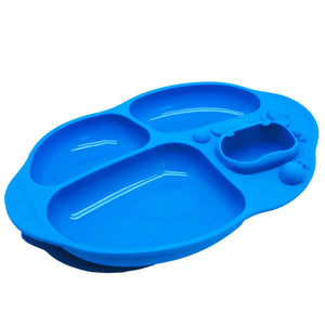 Marcus & Marcus Yummy Dips Suction Divided Plate - Lucas - WERONE