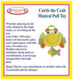 Shears PullString Curtis the Crab Musical Toy SHMPTCC YELLOW - WERONE