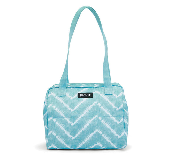 PackIt Freezable Hampton Lunch Bag, Aqua Tie Dye