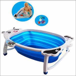 Shears Foldable Baby Bathtub with Toys - Blue
