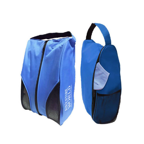 Adventure World Shoe Bag With Compartment and Mesh Netting (Blue) - WERONE
