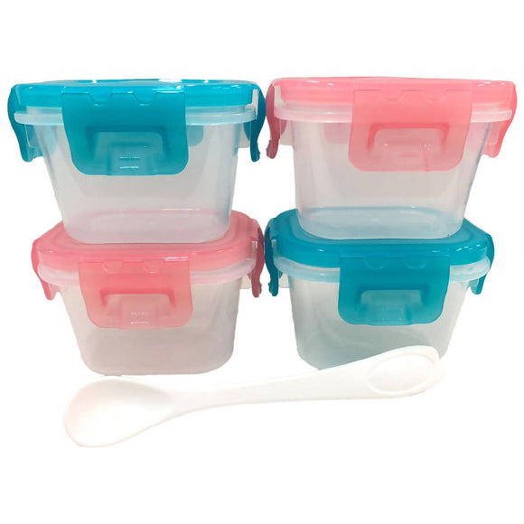 Nanny Baby Food Container Set with Spoon - WERONE