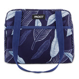PackIt Freezable Hampton Lunch Bag, Navy Leaves (NEW 2020) - WERONE