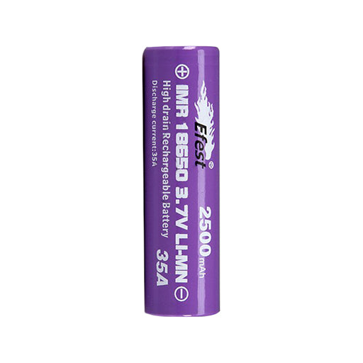 Efest 18650 2500mAh 35A Button Top Battery