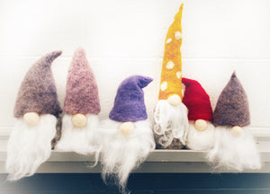 Garden Gnome Felting kit - Wool and Instructions only