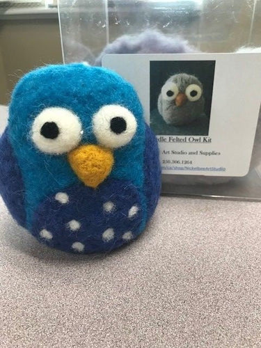 Needle Felted Owl Kit - Includes everything you need