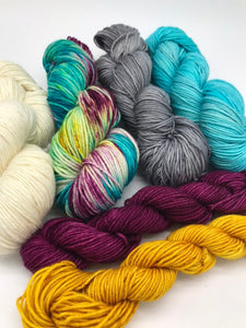 Camp Wilkerson Yarn Kit - comes with all the worted yarn needed