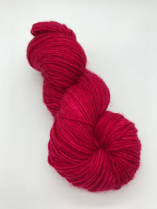 Compassion - Hand Dyed Worsted - Single - SW 100% Merino in Bright Red for knitting and crochet yarn