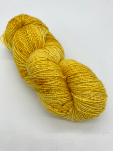 Sunrise - Hand Dyed Fingering - Superwash Merino and Nylon - 3 PLY in Yellow for knitting and Crochet