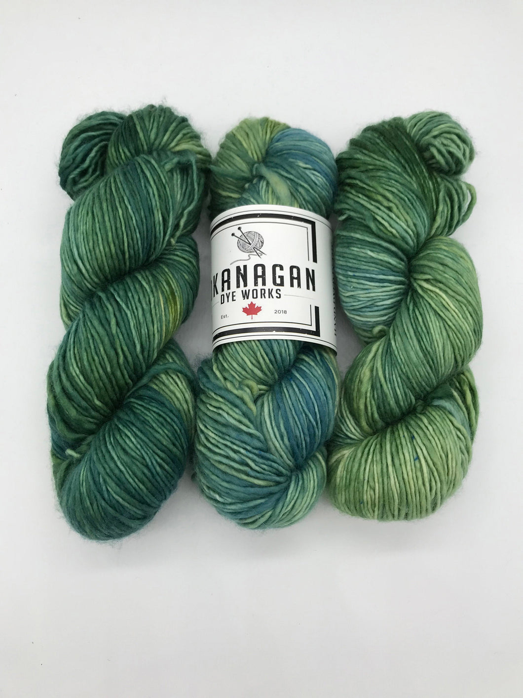 The Green Mile - Hand Dyed Worsted - Single - SW 100% Merino in Sage Green for knitting and crochet yarn