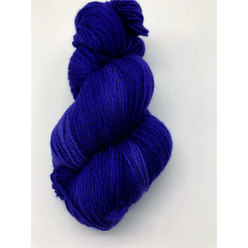 Electric Ave - Hand Dyed Fingering - SW 3 PLY 80/20 Merino and Nylon in bright blue - knitting and crochet yarn