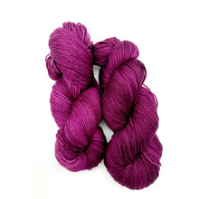 Load image into Gallery viewer, Grain de Raisin - Hand Dyed Fingering - 3 PLY - 80/20 SW Merino/ Nylon in purple for knitting and Crochet