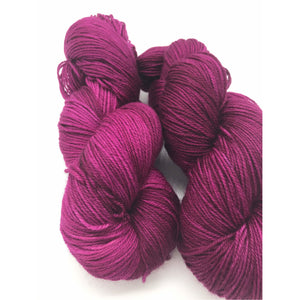 Grain de Raisin - Hand Dyed Fingering - 3 PLY - 80/20 SW Merino/ Nylon in purple for knitting and Crochet