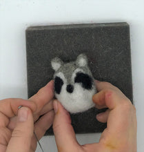 Load image into Gallery viewer, Needle Felted Woodland Animal kit - INSTRUCTIONS ONLY - Makes a fox, raccoon and owl - and great for kids and adults - digital download