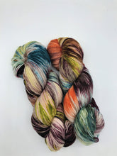 Load image into Gallery viewer, Snake Charmer - Hand Dyed Fingering - 3 PLY - 80/20 SW Merino/ Nylon in multi colour for crochet and knitting, toques, shawls, sock yarn