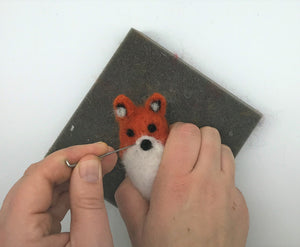 Needle Felted Woodland Animal kit - Includes everything needed - Makes a fox, raccoon and owl - and great for kids and adults