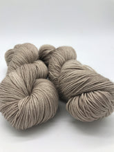 Load image into Gallery viewer, Mocha - Hand Dyed Fingering - 3 PLY - 80/20 SW Merino/ Nylon in light brown for crochet and knitting, toques, shawls, scarves, sock yarn
