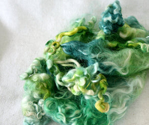 EMERALD ISLE - Hand Dyed Teeswater Locks in light shades of green and blue
