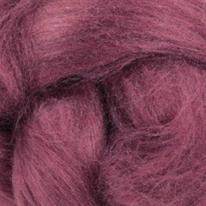 Tussah Silk (Top) Sliver - Red Onion (Purple) - 1oz or .5oz