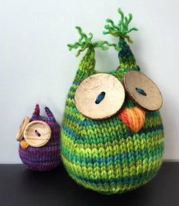 Large Wee Hoot Owl Knitting Pattern