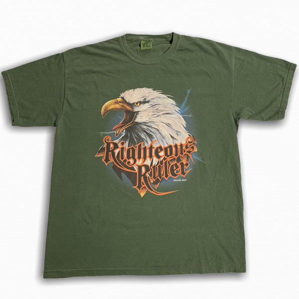 RIGHTEOUS EAGLE OLIVE TEE