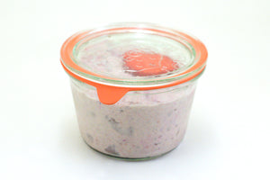 Bircher en bocal en verre
