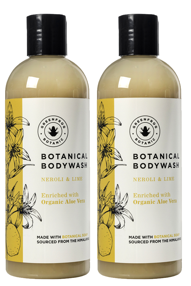 Natural Body Wash Gift Twin Set - 300ml Neroli & Lime