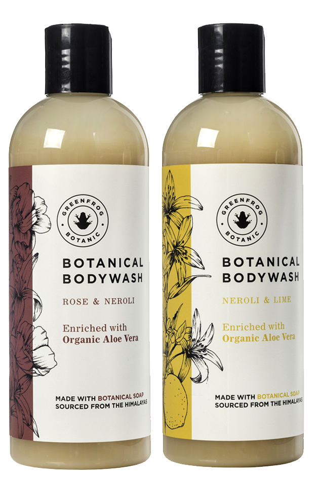 Natural Body Wash Gift Twin Set - 300ml Rose & Neroli and Neroli & Lime
