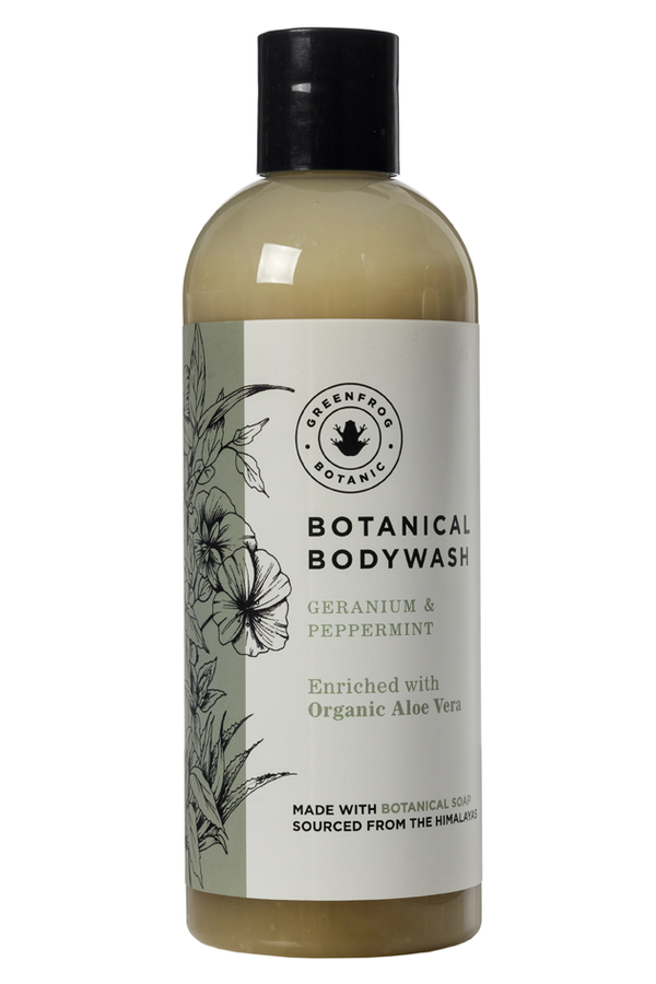 Organic Natural Bodywash - Geranium & Peppermint 300ml