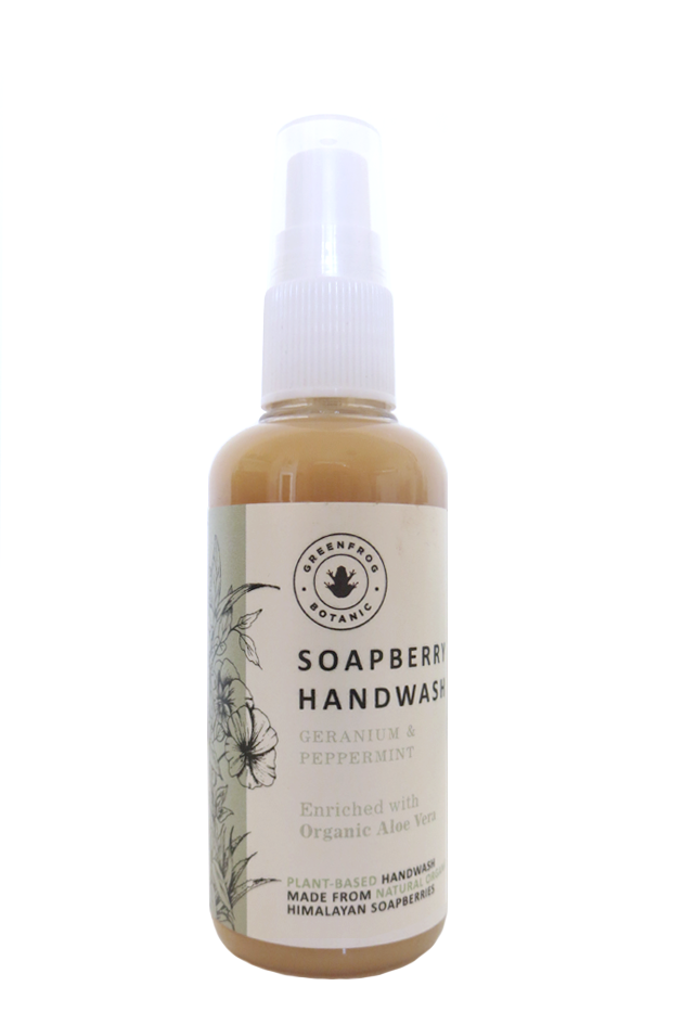 Travel Handwash with Soap Barries - Geranium & Peppermint 100ml
