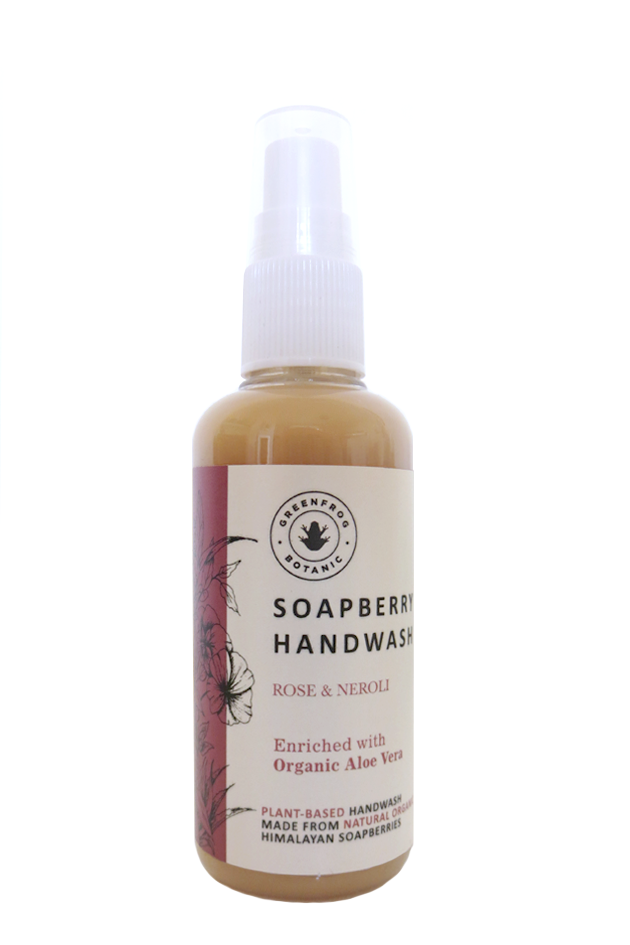 Travel Handwash with Soap Berries - Rose & Neroli 100ml