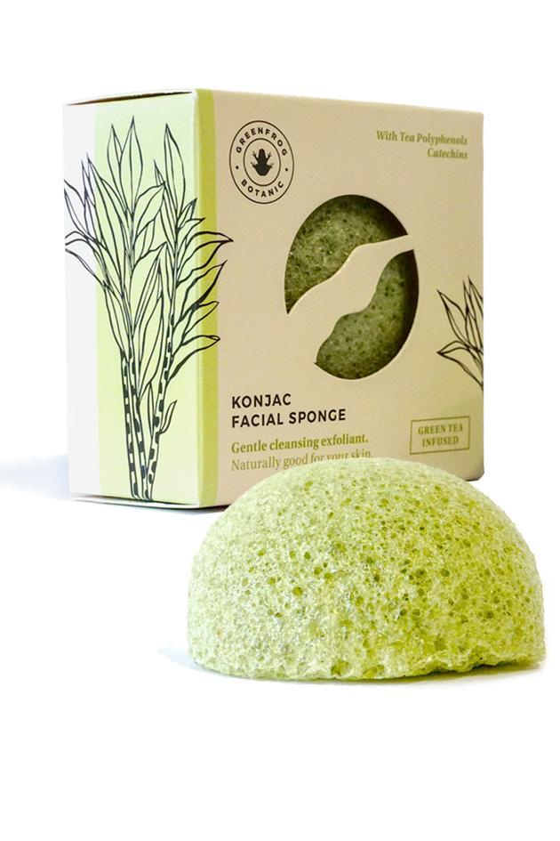 Natural Konjac Sponge - Green Tea