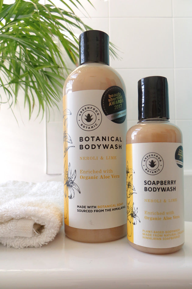 Organic Natural Body Wash - Neroli & Lime 300ml and 100ml