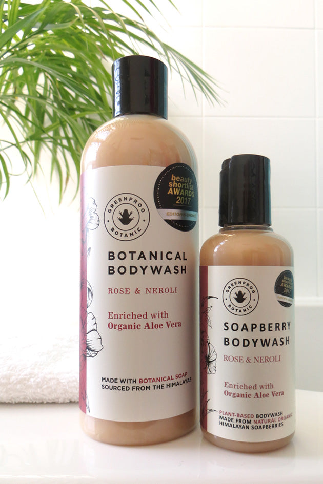 Natural Body Wash - Rose & Neroli 300ml and 100ml