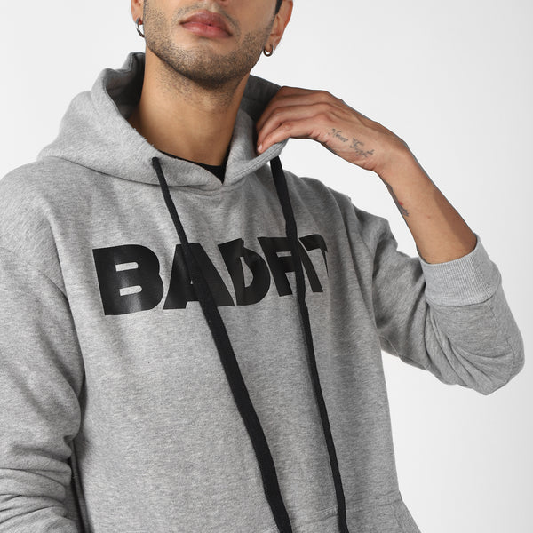 BADFIT GREY HOODIE WITH ZIPPERS
